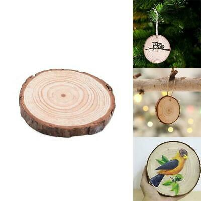 Unfinished Natural Round Wood Slices Circles Discs 3-4cm*0.5cm For Crafts X3K9