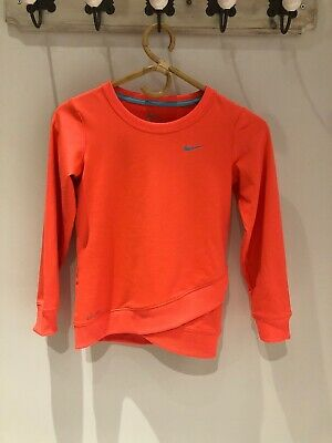 Girls nike Tarinjng Jumper Age 6-8 Years. Neon. Running  Dri-Fit