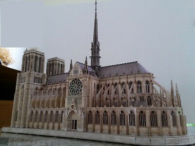 Notre Dame Paris cathedral model