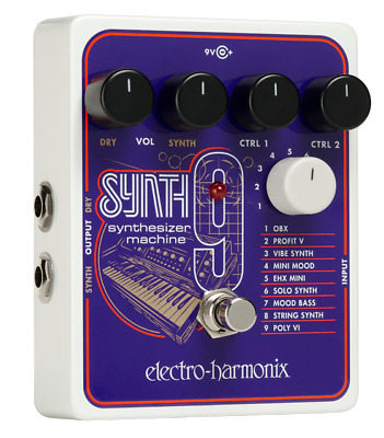 Electro-Harmonix Synth9 Synthesizer Machine - Bass or Guitar Polyphonic Pedal
