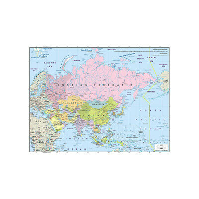 The Standard Map of Asia Large Poster Decor Non-woven Fabric