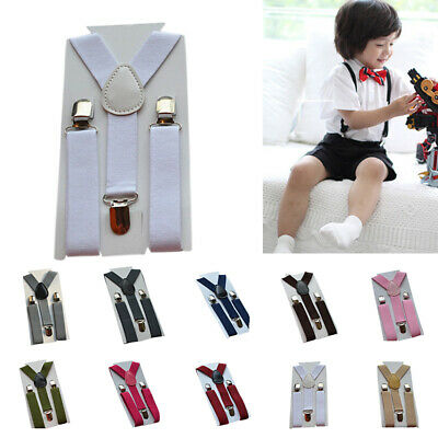 Braces Suspenders Trousers Elastic 1-10YRS Kids Strong Clip On Strap 2019