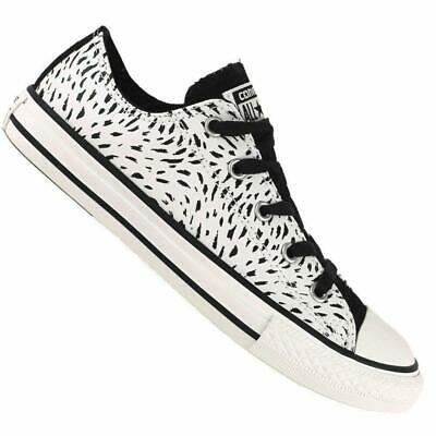 Kids Boys Chuck Taylors Canvas Black & White Mouse Converse Ox Girls Trainers UK