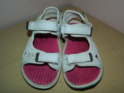 girl's Karrimor Antibes white with pink sandals with fasteners uk 12 eur 31