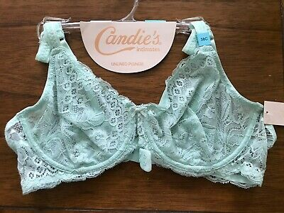 Candies LACE Underwire Bra NEW 34A UNLINED DUSTY PINK $28 #227481538 NEW