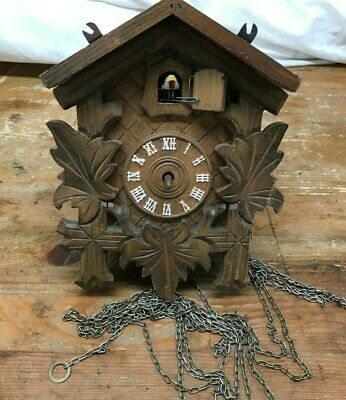 German Black Forest Cuckoo clock Hand Carved For Parts or Repair