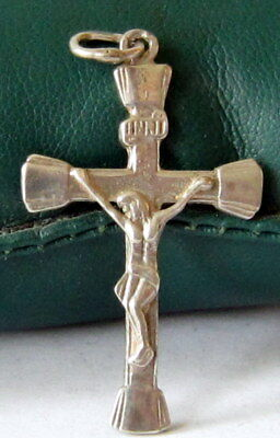 VINTAGE SILVER 925% CROSS WITH CRUCIFIXION,EARLY 20th. Century !!! # 25C