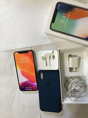 Unlocked Apple iPhone X - 64GB - Silver (Unlocked) A1865 (CDMA + GSM)
