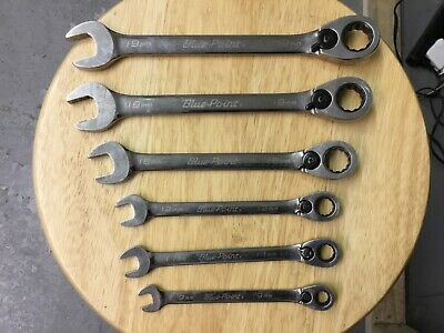 Blue Point 6 Pieces 12-Point Metric Ratcheting Wrench Set 9,11,12,16,18,19MM