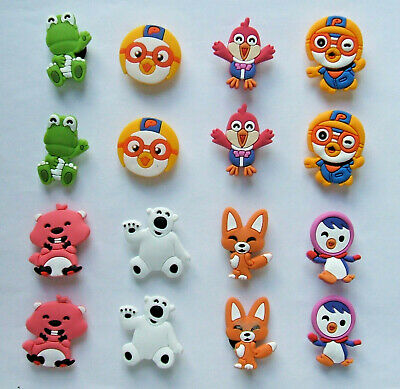 SHOE CHARMS (Z6) - inspired by CUTE CARTOON CHARACTERS - (16Z6) - Pack of 16
