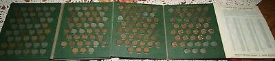 (#9204) Green Whitman Vintage Album for Lincoln Cents 1909-1960 120 cents incl.