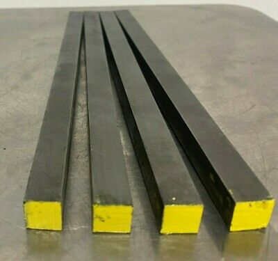 "1018 Steel Bar, Cold Drawn Square .437"" (7/16"") x 8"" length"