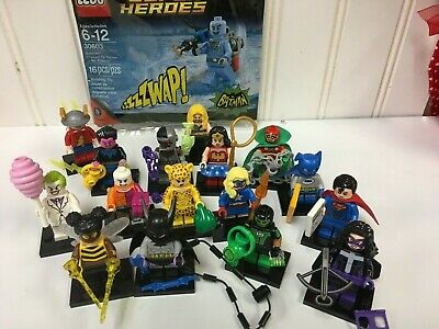 LEGO CMF 71026 DC Super Heroes Series Minifigures Complete Set of 16 + MR FREEZE