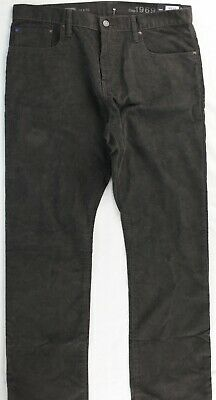 Gap 1969 Brown Straight Corduroy Jeans Label 34x32 Meas 36x33