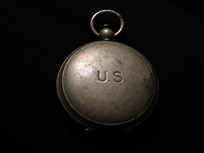 Vintage WWII Wittnauer Longines U.S. Army Air Corps Pocket Compass Still Works