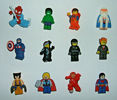 SHOE CHARMS (Y1) - CARTOON CHARACTERS inspired by MOVIE HERO (12B) - Pack of 12