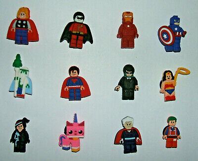 SHOE CHARMS (Y1) - CARTOON CHARACTERS inspired by MOVIE HERO (12C) - Pack of 12