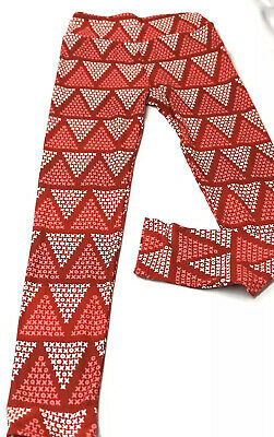 Lularoe OS Leggings TWEEN Size Valentine's Day Pink Red White Hearts