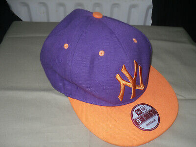 Men's NEW ERA 9FIFTY Snapback Baseball Cap - Purple & Orange - NEW YORK YANKEES