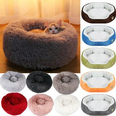 Comfy Calming Dog/Cat Bed Round Super Soft Plush Pet Bed Marshmallow Cat Bed DU