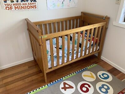 Wooden Cot / Bed With Matress And 3 Sheet Sets