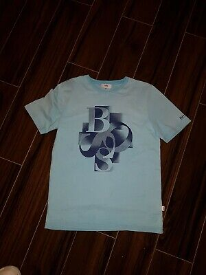 Hugo Boss Boys  faded effect light blue T Shirt  Age 10 excellent condition