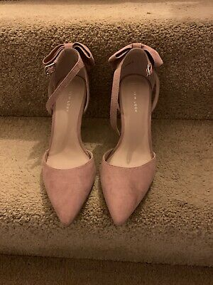 New Look High Heel Shoes Size 7 Pink Bow Detail