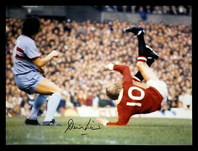 Denis Law Signed Manchester United  Overhead Kick 12x16 Football Photograph