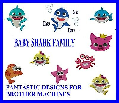 Baby Shark Designs Pes Format Brother, Plus 1000'S Of Designs