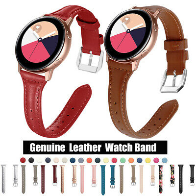 Thin Slim Genuine Leather Band Strap For Samsung Galaxy Watch Active2 40/44mm S3