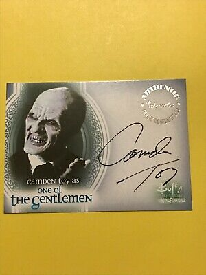 Buffy The Vampire Slayer Autograph Card Camden Toy as One Of The Gentlemen A-10