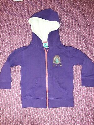 Girls mountain warehouse Purple Hooded jacket Age 3/4