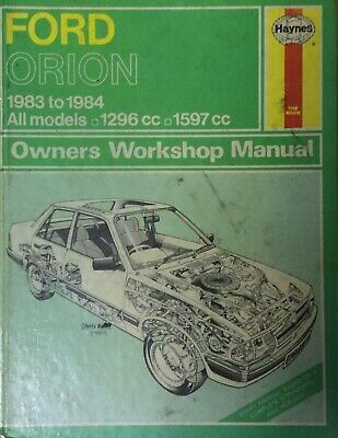 Haynes Manual Ford Orion 1983 To 1984