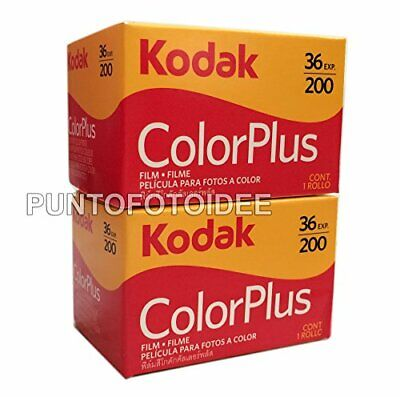 2Rolls Kodak Color Plus 35mm 20036Pack of 2. Film, Photography