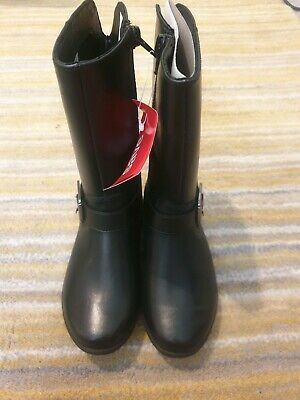 Girls Clarks Knee High Boots, Black, leather  size UK11G Kids