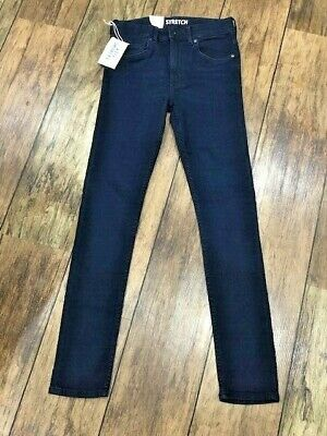 BRAND NEW H&M Super skinny indigo blue jeans 12 13 year adjustable waist stretch