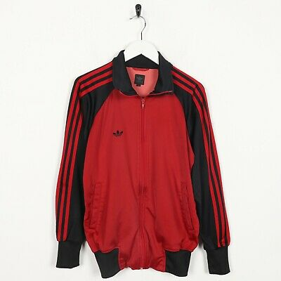 Vintage ADIDAS ORIGINALS Zimbabwe Back Logo Tracksuit Top Jacket Red | XS