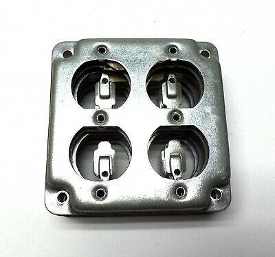 Steel City, Duplex Receptacle Outlet Box Cover, Rs8, Lot Of 5