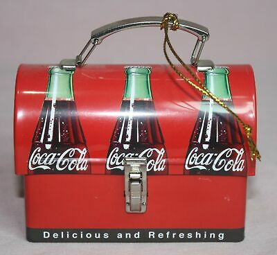 Advertising Coco-Cola Soda Bottle Graphic  Lunchbox Christmas Ornament Metal
