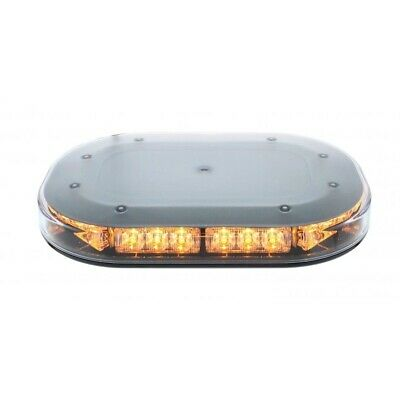 30 High Power Led 12V/24V Micro Strobe Warning Bar - Permanent Mount/Clear Lens