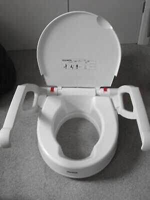 aquatec raised toilet seat with arms