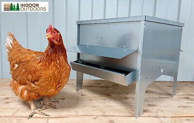 Large Chicken Poultry Feeder Hopper with Roof Vermin Proof UK Manufactured