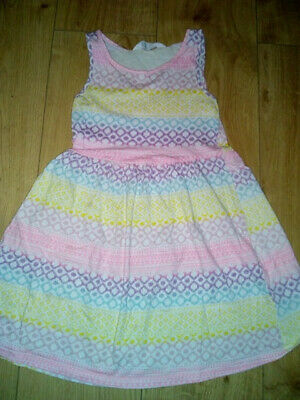 Girls Beautiful Multicoloured Summer Dress Age 6-7 Years by H&M