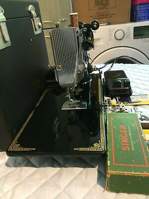 Centennial Badge 1951 Vintage Singer 221K Portable Featherweight Sewing Machine,
