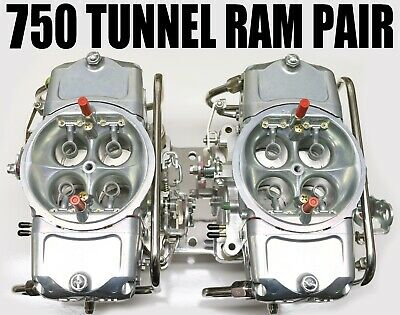 New Old Stock Mighty Demon 5402010Tr Zinc Carburetors Gas Tunnel Ram Pair
