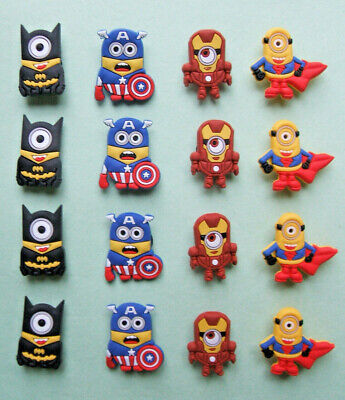 SHOE CHARMS (G) - CARTOON CHARACTERS, ONE EYE, TWO EYES (16SHM) - Pack of 16