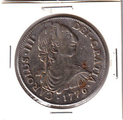 Spain 1776 Year Colonial Mexico 8 Reales Coin *Fascimilie* - Circulated