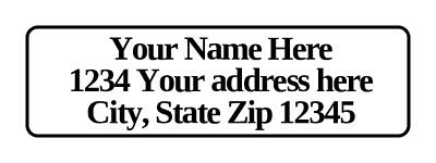 400 Personalized Return Address Labels. 1/2 inch by 1 3/4 inch