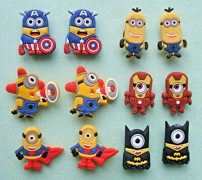 SHOE CHARMS (G) - CARTOON CHARACTERS, ONE EYE, TWO EYES (12E) - Pack of 12