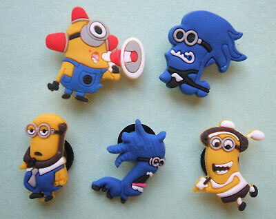 SHOE CHARMS (G) - CARTOON CHARACTERS, ONE EYE, TWO EYES (5A) - Pack of 5